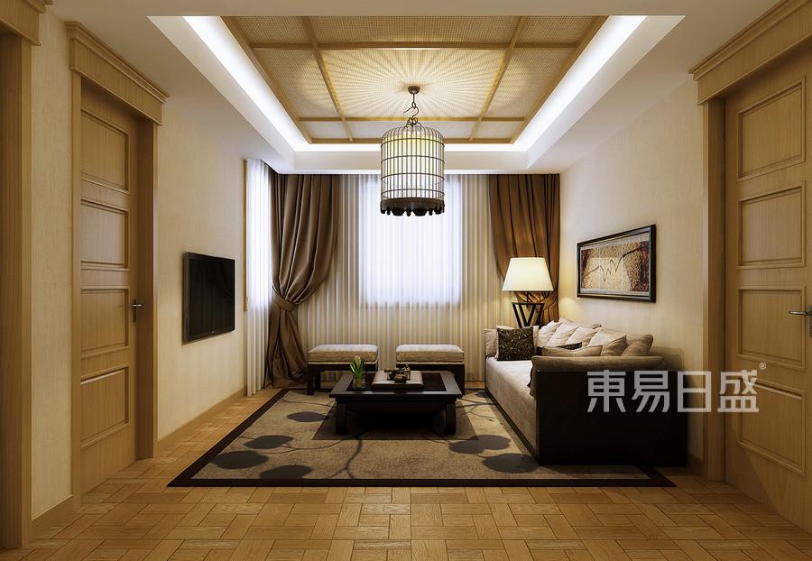 新中式风格休闲厅装修效果图