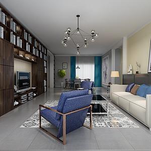 现代简约-平层-客厅