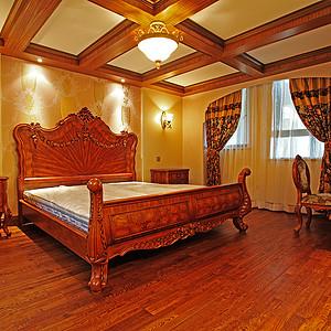 美式风格装修效果图-卧室