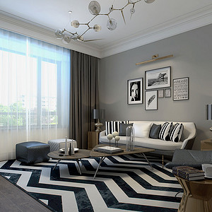 紫郡府160㎡三居室现代简约风格
