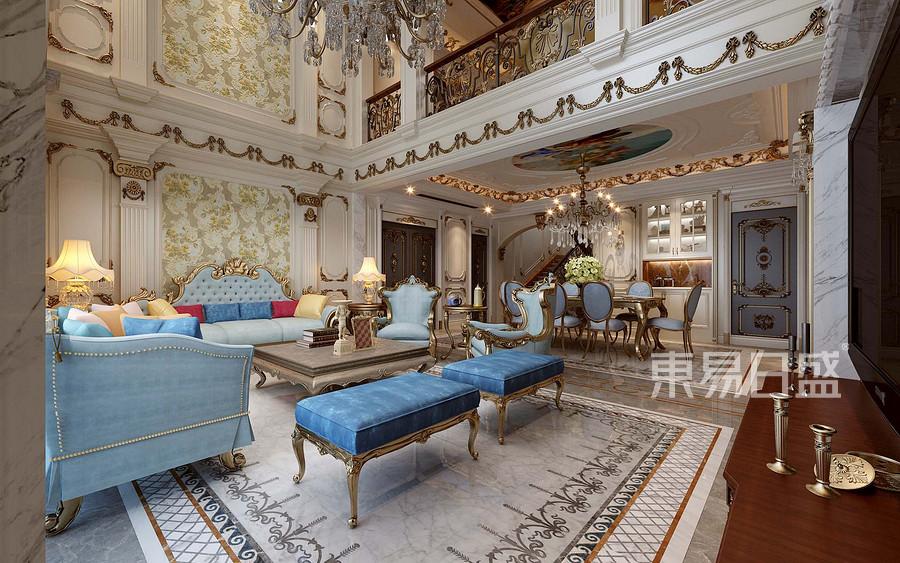 法式新宫廷风格客厅装修设计效果图   分享  收藏  空间  风格 元素