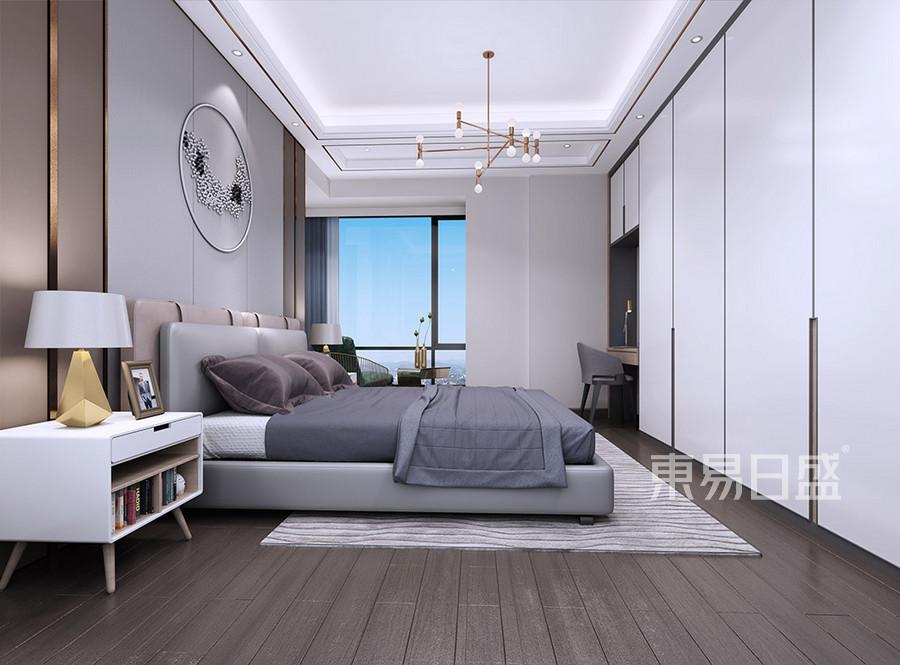 东城景湖花园现代简约卧室装修效果图