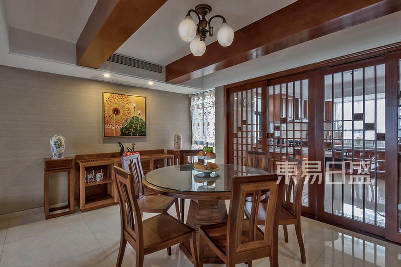 新中国风 新中式风格 餐厅效果图_装修效果图大全2018