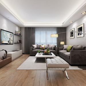平层商品房160平设计装修效果图-现代简约(集)-现代客厅大全