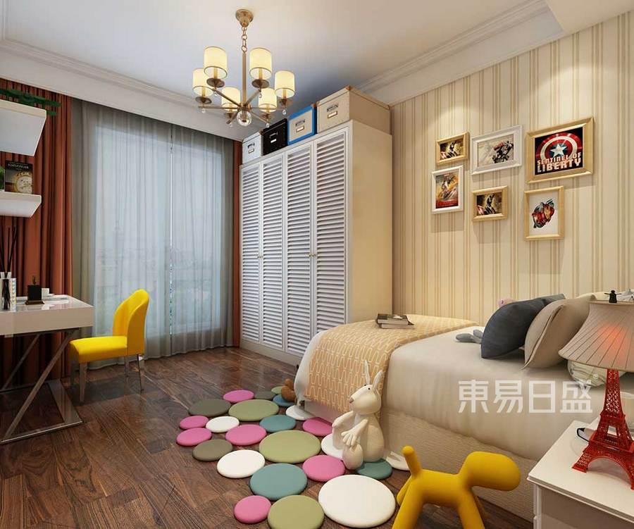 儿童房效果图家具的款式