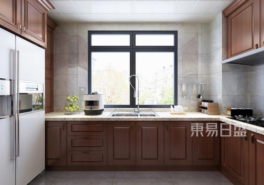 150平华嬉庄园新中式风格厨房装修效果图