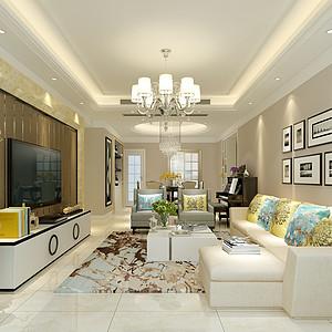 南城世纪城国际公馆香榭里-125㎡现代风格四居室 装修效果图