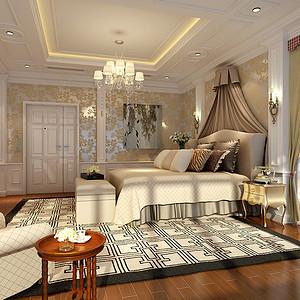 新古典风格装修效果图-卧室