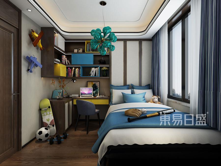 145㎡三居室 新中式风格 儿童房装修效果图