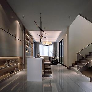 现代轻奢-别墅-客厅