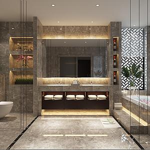 新中式风格卫生间