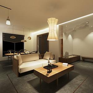 彩虹新城 新中式 客厅装饰图