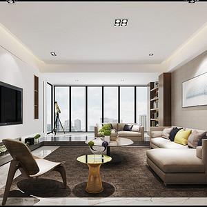 博林天瑞 极简风格 150平米 三房两厅 装修效果图