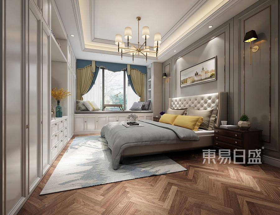 狮山原著现代美式卧室设计效果图