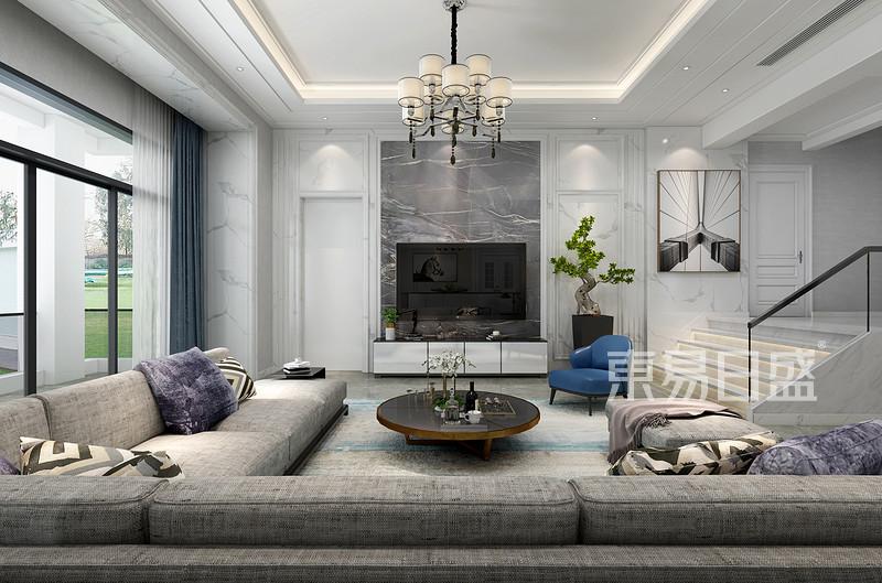 600平别墅客厅装修