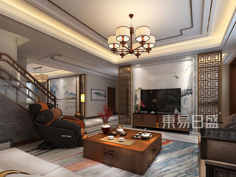 260㎡五居室新中式风格装修效果图设计解析