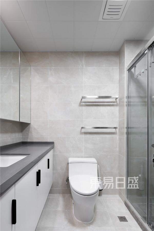 望族苑122平米现代黑白灰装修效果实景图