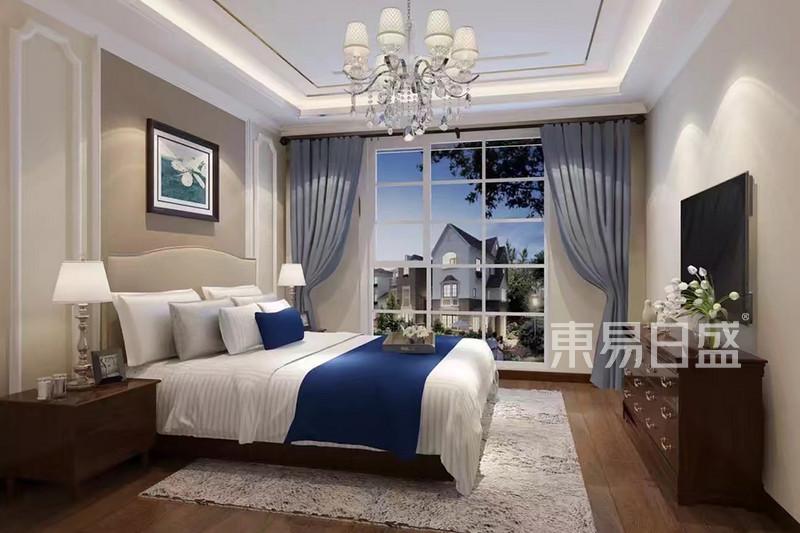 美式案例-远洋天著-美式乡村软装乡村卧室转让设计院乙级资质建筑价格是多少图片