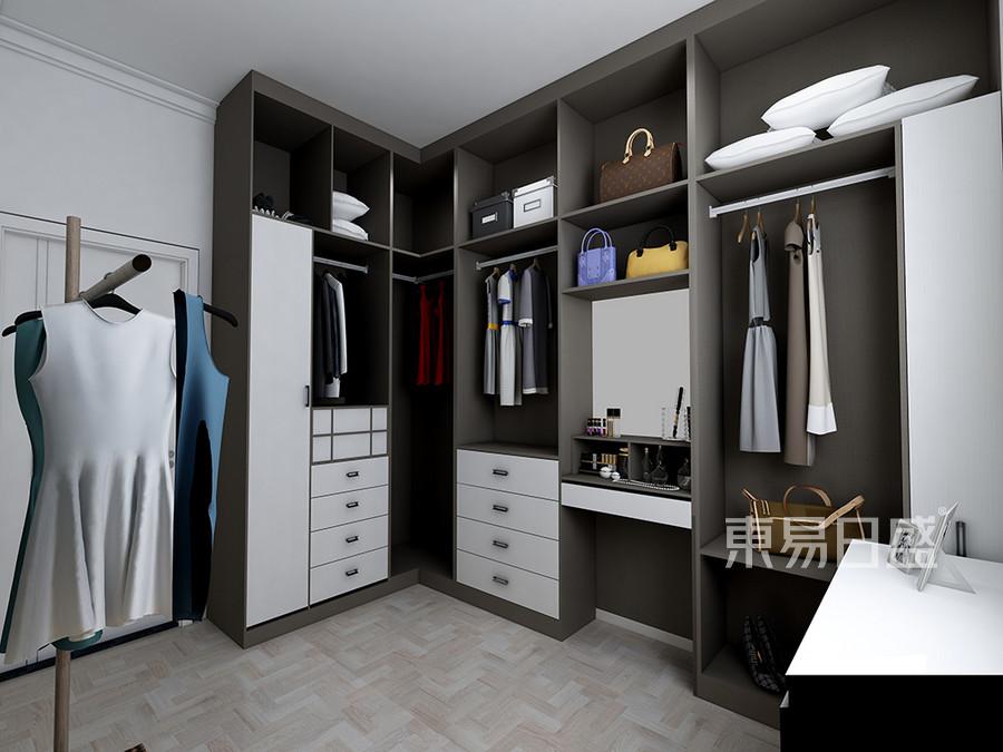 普通住宅-现代简约设计案例-衣帽间装修效果图