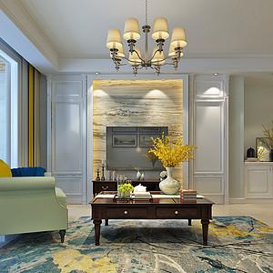 智高常春藤139平三室二厅美式风格装修案例