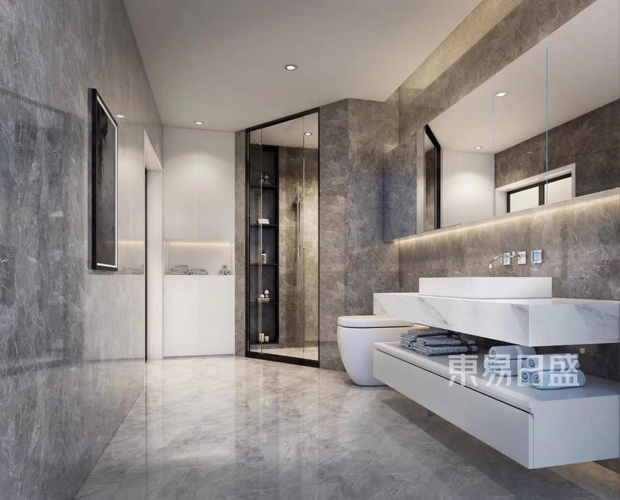 三室二厅装修-现代简约风格案例-卫生间装修效果图