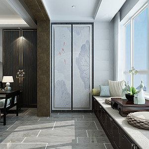 新中式风格-设备室-装修效果图