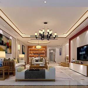 东城天骄峰景装修案例 280㎡四房二厅新中式装修效果图