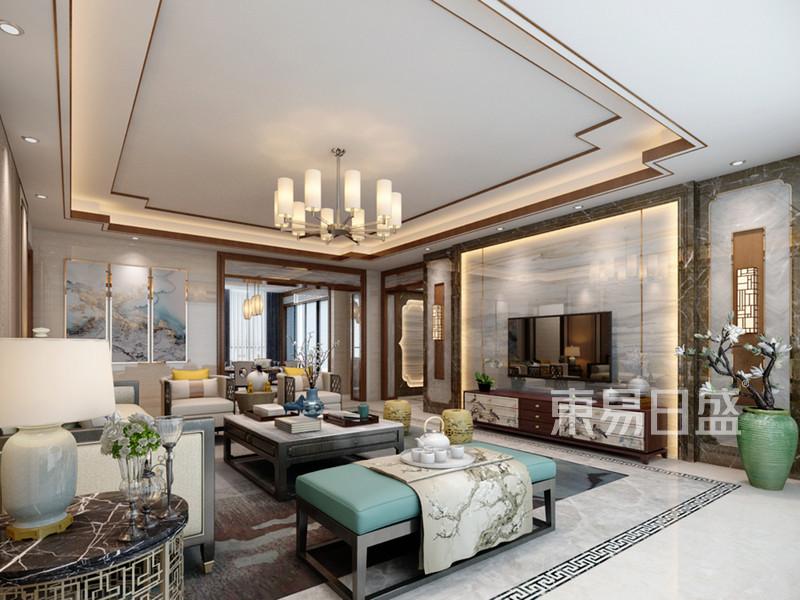 客厅装修效果图片——新中式风格