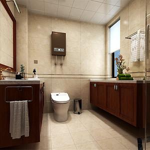 熙和园新中式风格卫生间装修效果图