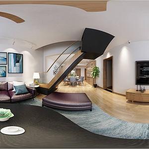 重庆约克郡136㎡北欧风格三口之家,与室外风景完美结合