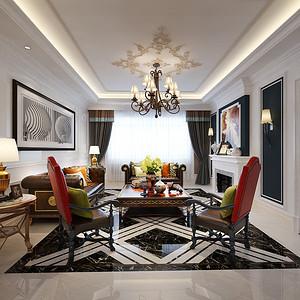 海珀澜庭 新古典风格装修效果图 别墅 450㎡