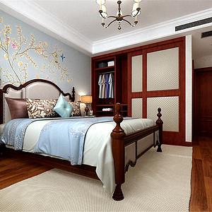熙和园新中式风格卧室装修效果图
