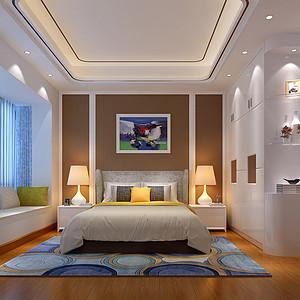 天骄峰景四房新中式卧室装修效果图