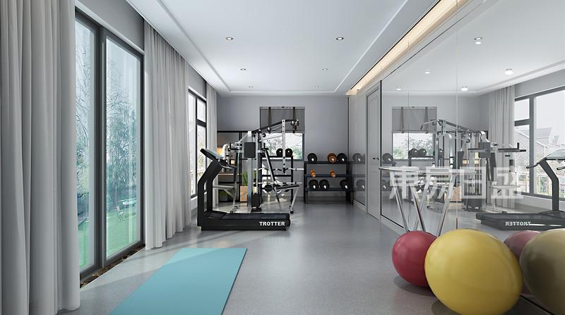 600平别墅健身房装修