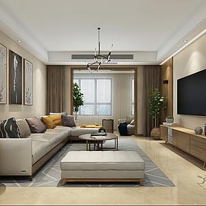 客厅木质背景墙的加上禅意的中式