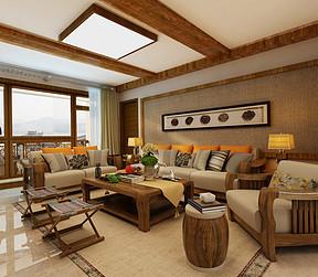大连地中海风格装修-客厅