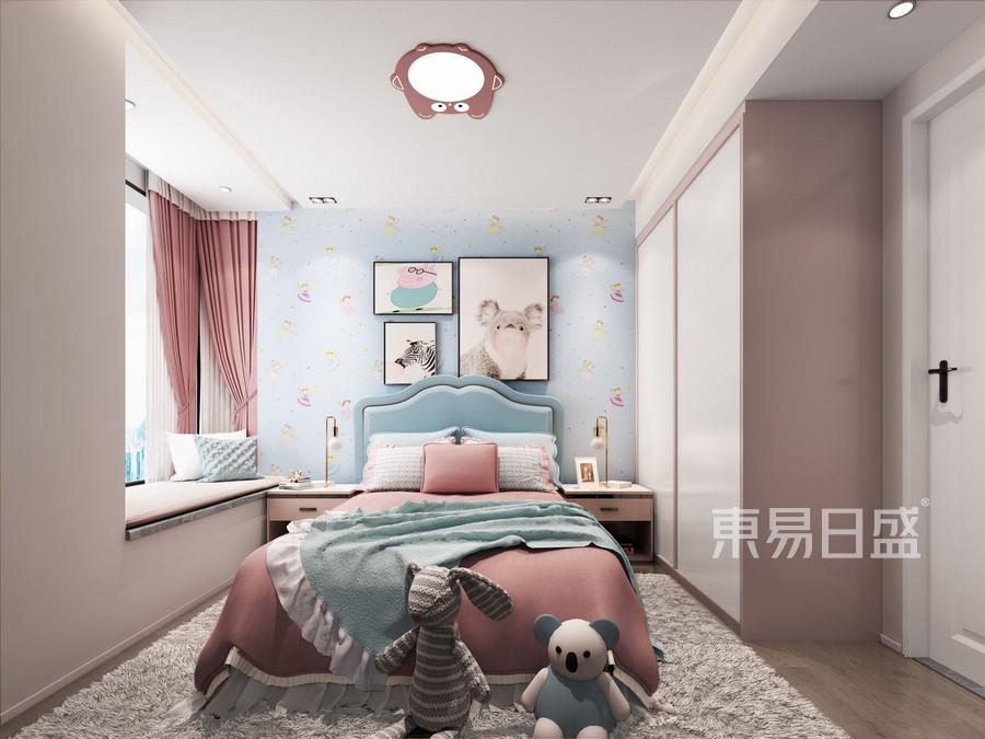 三室二厅装修-现代简约风格案例-儿童房装修效果图