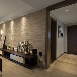 九龙湖融园125㎡北欧风格客厅