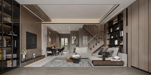 200平叠拼别墅现代风格丨仁和春天装修案例