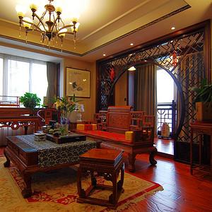 中南世纪花城135平新中式装修案例