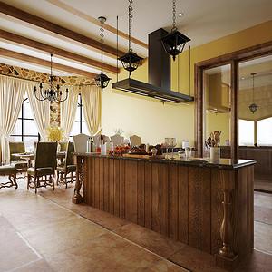 八达岭山庄-美式乡村—厨房