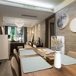 九龙湖融园125㎡北欧风格餐厅