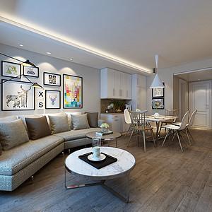 绿城百合现代北欧风格97㎡两室两厅公寓
