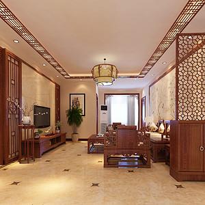 欧园 新中式 三居室装修