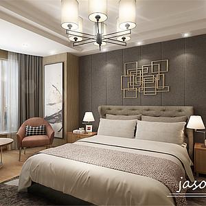 卧室-扬州白金会日盛装饰新中式