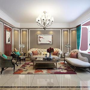 东胜紫御府168平三室二厅新装饰主义风格效果赏析