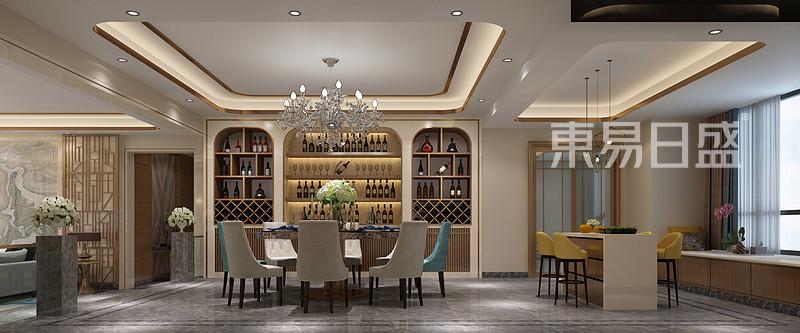 锦绣山河观园超大平层餐厅效果图