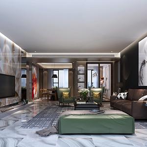 华润城 现代简约风格装修效果图 500㎡ 别墅装饰设计