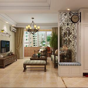 盛世御城114平三室二厅简美风格装修案例