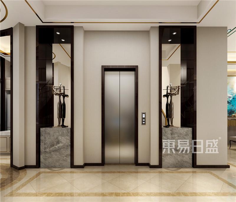 首页 室内装修效果图 > 现代轻奢电梯间:工艺品跟玻璃的结合   所属